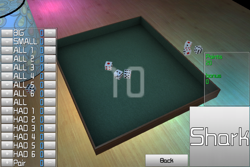 Screenshot Super Dice 3D Lite